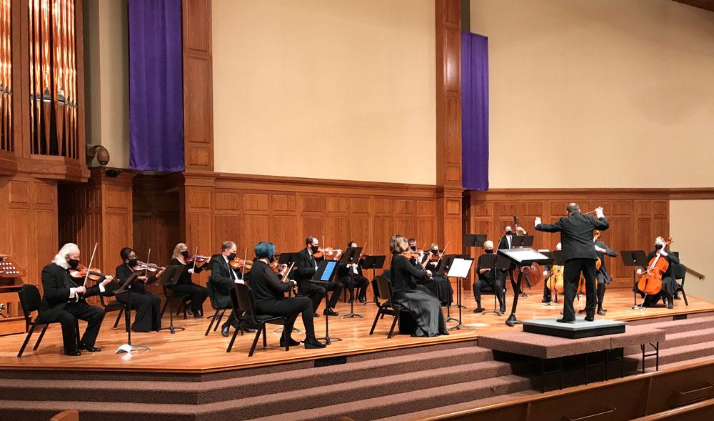 Newton Mid Kansas Symphony Orchestra performing their spring concert.
